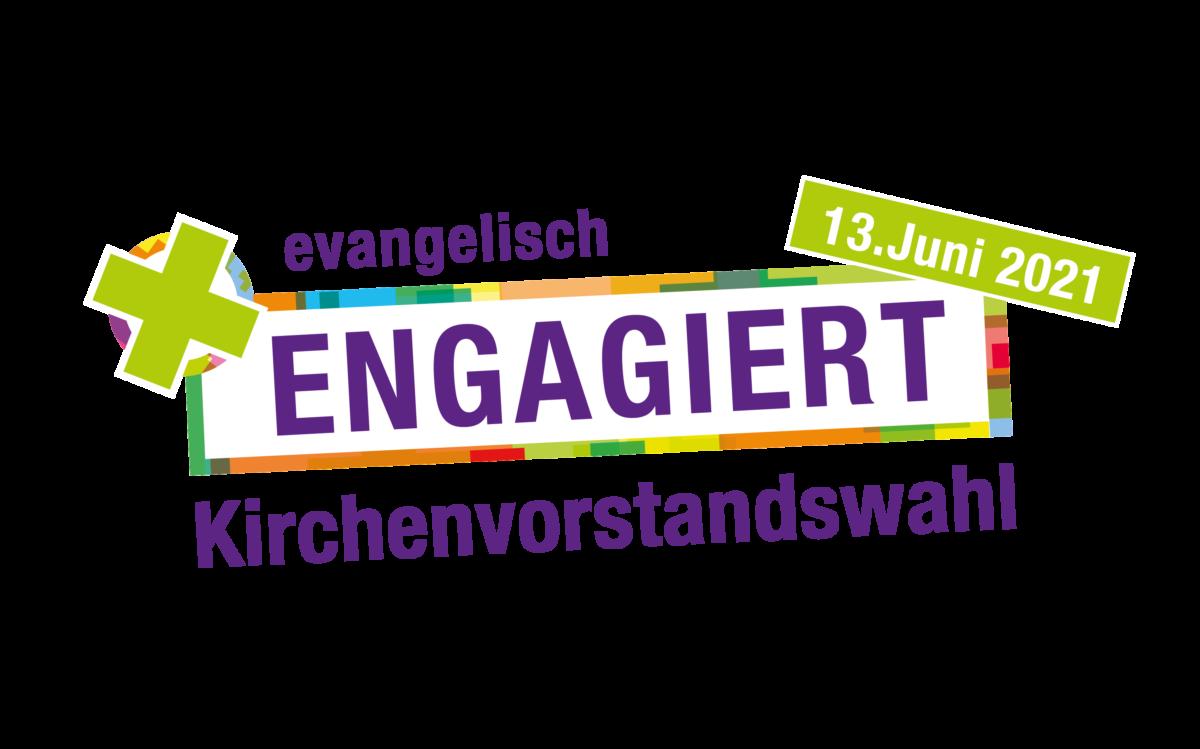 """Logo """"Engagiert"""" zur Kirchenvorstandswahl 2021"""